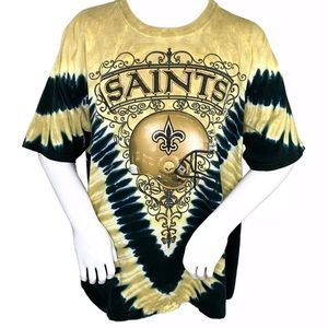 New Orleans Saints Tie Dye Double Sided